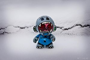 Custom Munny Snow Monster by InWineThereIsTruth