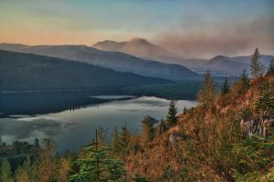 Coldwater Lake and Mount Saint Helens by arnaudperret