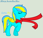 A scarf in the wind. :3 by ScarlettAnnaHeart