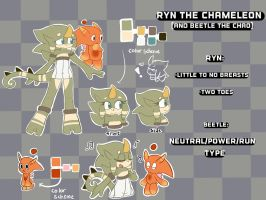 Ryn the Chameleon Reference Sheet by MaddieBat