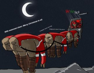 Krogan Christmas Cheer by IndigoWolfe