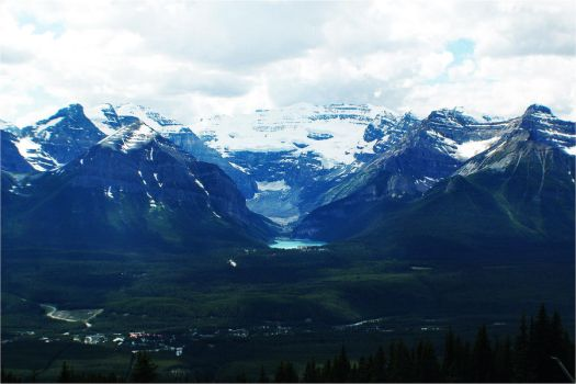 Lake Louise: from a distance. by fading-memories