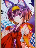 Drawing Izuna Hatsuse - No Game No Life by KarollArtes