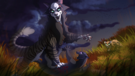 Commission - Autumn Fight by ScalyFloof