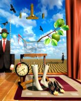 Surreal Magritte by funkwood