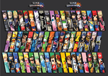 Super Smash Bros. for 3DS/WiiU Wallpaper by ManyLines