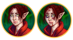 lavellan portrait icons by luxecoffin