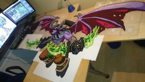 Illidan 4 - Almost there! (WIP) by MagicPearls