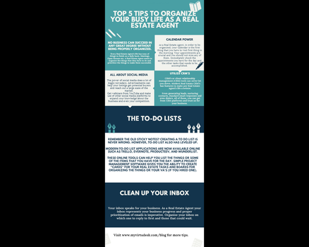 Top 5 tips to organize your busy life as a Real Es by JordanJWhite