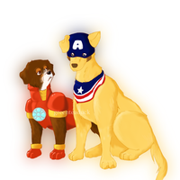 Tony Bark and Steve Pawgers by greenteaduck