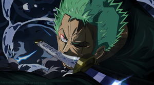 Roronoa Zoro One Piece Anime Colors Manga Wanokuni by Amanomoon