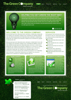 The Green Company Web Layout by a2designs