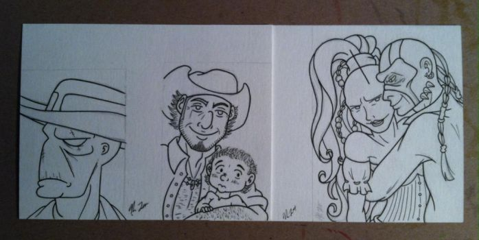 WIP Wednesday: 4 Outlaws and a Baby by TerribleToadQueen