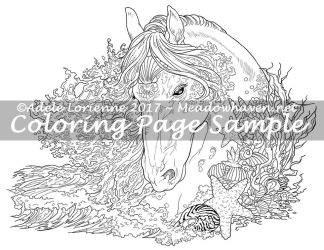 Art of Meadowhaven Coloring Page: SeaHorse by Saimain