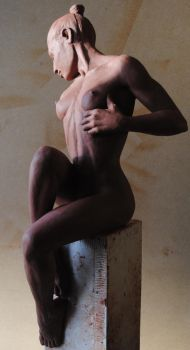 Seated nude. by ruskybird