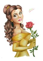 Belle colored-Disney Princess by filipeoliveira