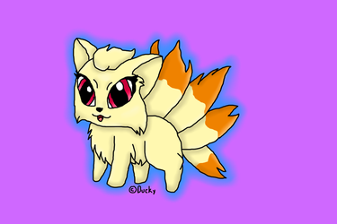 ~ Chibi Ninetales ~ by Ducky-the-Wolf