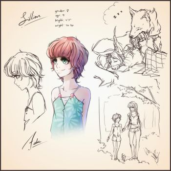Lillian Sheet with Doodles and Stuff by Ashe-Marbury