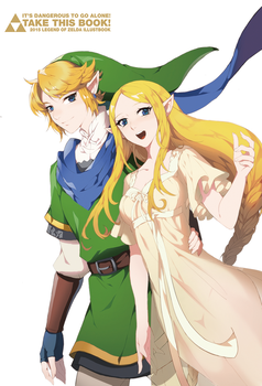 loz illustbook bonus art-hyrule warriors by muse-kr