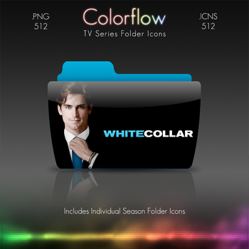 Colorflow TV Folder Icons: White Collar by Crazyfool16