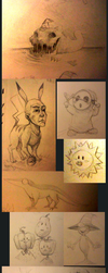 Sketches [July 6~8 2018] by CoffeeSnake