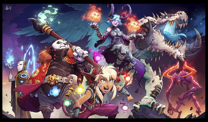 Keyart Duelyst:Unearthed Prophecy by Nicolasaviori