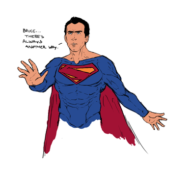Nic Cage as Superman by NiteOwl94