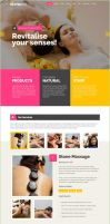 Spa Product Service Landing Page by Saptarang