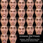 Grimaces Dial Presets for Genesis 8 Male (Add-on) by ratorama