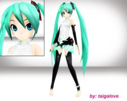 MMD hatsune miku append project diva DL!! by taigalove