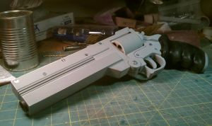 Vash's longcolt .45 revolver replica from Trigun by weaselhammer