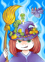 Witch's Little World Colored by AngryMaxFuryStreet