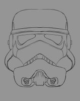 Stormtrooper Daily sketch #911 by GothicVampireFreak