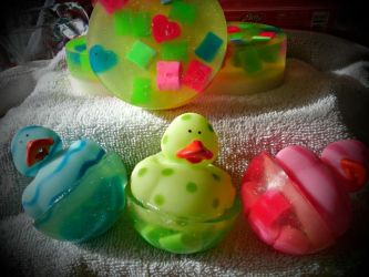 Duckie Easter Egg soaps by bhudicae