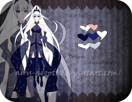 (CLOSED) Auction Adoptable: Queen of the Night by Airis-Adopts