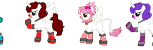 Fnaf SL ponies by IloveFNAFandsonic