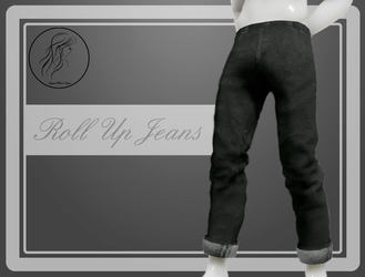 [MMD] Male Roll Up Jeans (+DL) by AppleWaterSugar