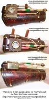 Steampunk 'Strange' Detector Bracer by Steampunked-Out