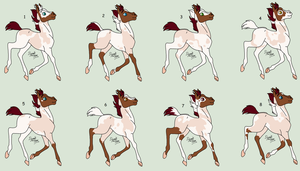 # NYP-Adoptables - Foals 7 - OPEN [1/8] by PinkPlushChicken