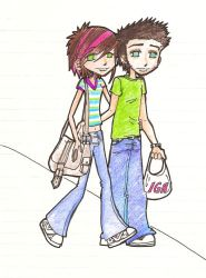 me and meh fiance by roxxychan