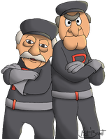 Statler and Waldorf as Team Rocket by AniMat505