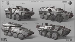 Armored vehicles by Min-Nguen