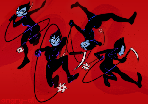 Ashi sketchdump by angry-alice