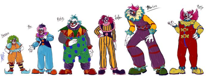 .:Size Ref:. Klown Line-Up by Youalahuan