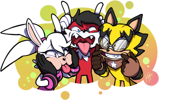Comm: Funny faces by KetrinDarkDragon