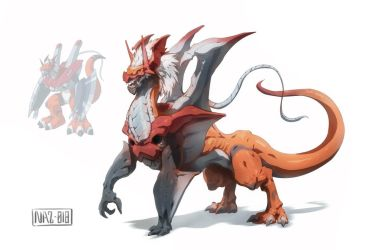 Dragon WarGrowlmon (commission) by Namh