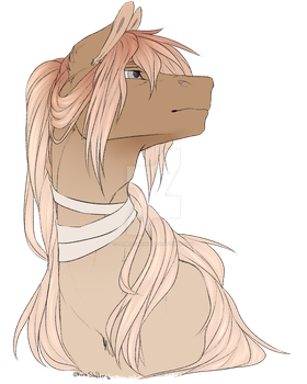 Commission #40. Pony. Sketch headshot by dementra369