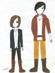 Chloe and Mamoru in casual clothes by TheARTIST-4