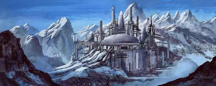mountain starbase by landobaldur
