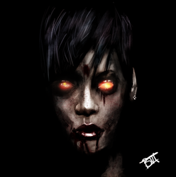 Zombie Rihanna  by beauviarts